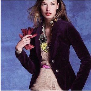 J. Crew | Eden plum velvet jacket blazer
